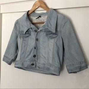 GLASSONS Crop Denim Jacket, size 8